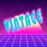 Vintage background 80s design. Retro backdrop template. Vector illustration Royalty Free Stock Images