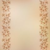 Vintage background with seamless floral ornament Royalty Free Stock Photography