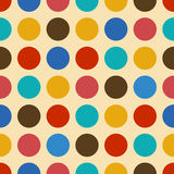 Vintage background seamless pattern with circles Royalty Free Stock Images