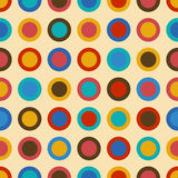 Vintage background seamless pattern with colorful circles Stock Photography