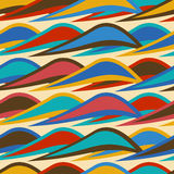 Vintage background seamless pattern with colorful waves Stock Image