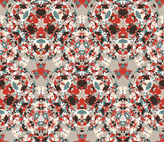 Vintage background. Seamless pattern composed of color abstract elements located on white background. Vector illustration. Royalty Free Stock Photo