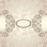 Vintage background with seamless pattern in pearly beige Royalty Free Stock Photo