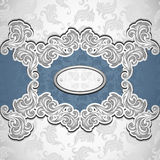 Vintage background with seamless pattern in silver blue Stock Photography