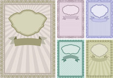 Vintage background. Set of vintage backgrounds with frames and borders Royalty Free Stock Image