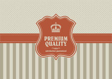 Vintage background with shield element Stock Photo
