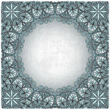 Vintage background with silver pattern Stock Image