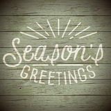 Vintage background with slogan for Christmas Stock Images