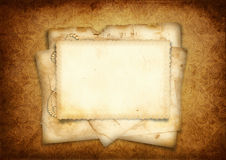 Vintage background with stack of old postcard Stock Photography