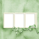 Vintage background with stamp-frame Stock Photo
