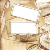 Vintage background with stamp-frames Stock Image