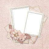 Vintage background with stamp-frames Stock Photo