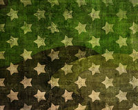 Vintage background with stars. And scratches Stock Images