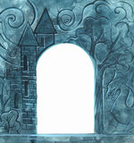 Vintage background with stone carvings Royalty Free Stock Photography
