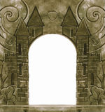 Vintage background with stone carvings Royalty Free Stock Photos