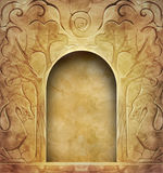 Vintage background with stone carvings Stock Image