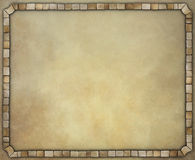 Vintage background with  stone frame. Stock Image