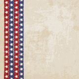 Vintage background with stripes and stars Royalty Free Stock Photos