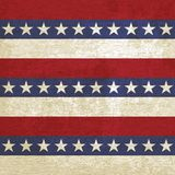 Vintage background with stripes and stars Royalty Free Stock Photography