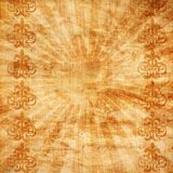 Vintage background with sunburst and ornament Royalty Free Stock Photos