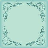 Vintage background, swirling decorative pattern frame Royalty Free Stock Images
