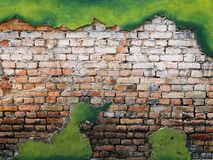 Vintage background texture old masonry stone brown bricks Stock Photo