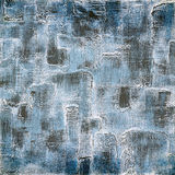 Vintage background on textured fabric in shades of blue Royalty Free Stock Image