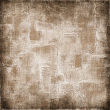 Vintage background on textured fabric in shades of brown Stock Photography
