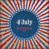 Vintage Background 4th July Stock Images
