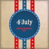 Vintage Background 4th July 3 Stripes. Vintage independence day background design with brown colors vector illustration