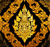 Vintage background with Thai art Stock Image