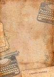 Vintage background with typewriter. And text Royalty Free Stock Photography