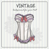 Vintage background with underwear Royalty Free Stock Images