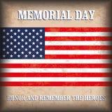 Vintage Background US Flag Memorial Day Stock Image