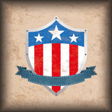 Vintage Background US Flag Shield Royalty Free Stock Photo
