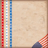 Vintage Background US Flag Stripes Edge Royalty Free Stock Images