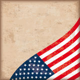 Vintage Background USA Flag Royalty Free Stock Photography