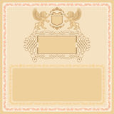 Vintage background, useful for certificate Stock Photography