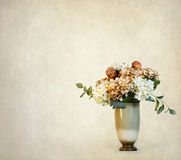 Vintage Background Vase of Flowers Royalty Free Stock Image