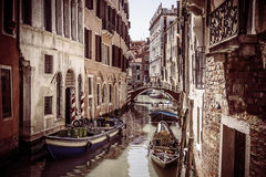 Vintage background of Venice city. Stock Images