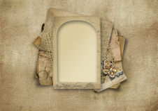 Vintage background with victorian card Royalty Free Stock Images