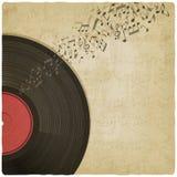 Vintage background with vinyl record stock illustration