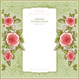Vintage background for the wedding with roses Stock Image