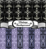 Vintage background white black grey purple Stock Photos
