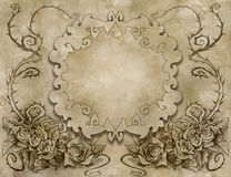 Vintage background wiith floral decoration Royalty Free Stock Images