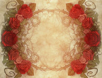 Vintage background wiith floral decoration Royalty Free Stock Photos
