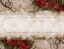 Vintage background wiith floral decoration Royalty Free Stock Photography