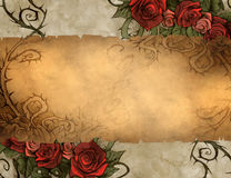 Vintage background wiith floral decoration Stock Images