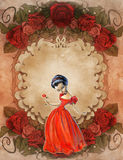 Vintage background wiith floral decoration Royalty Free Stock Image