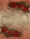 Vintage background wiith floral decoration Stock Photo